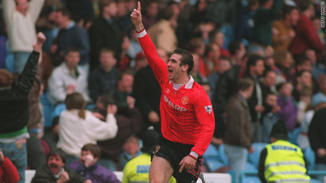 Eric Cantona scored 64 goals in 144 league appearances during his spell at Old Trafford.