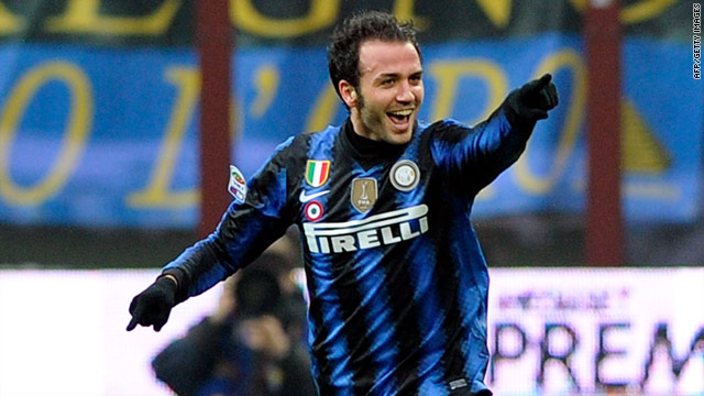 Two-goal Giampaolo Pazzini enjoyed a dream debut for Inter Milan as they fought back to defeat Palermo 3-2.