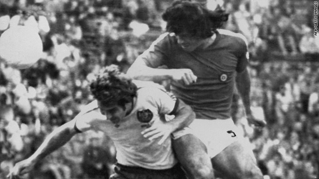 Figueroa (right) was an imposing central defender for Chile during the 1960s and 1970s.