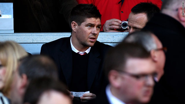Steven Gerrard will be forced to watch Liverpool's remaining fixtures from the stands.