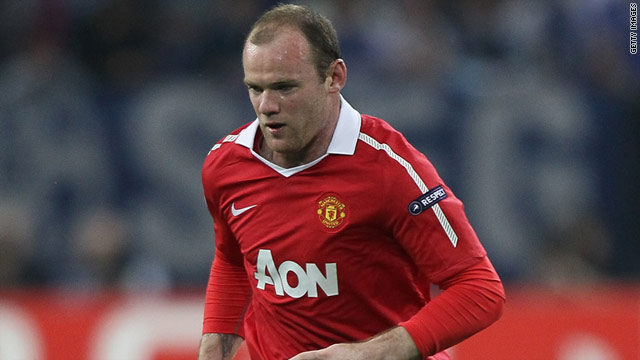 Manchester United and England's Wayne Rooney has scored three goals in this year's European Champions League.