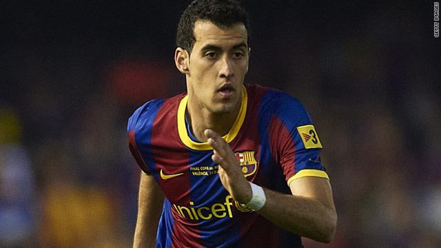 Barcelona midfielder Sergio Busquets is free to play in the Champions League final against Manchester United.
