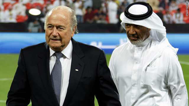 Sepp Blatter (left) and Mohamed Bin Hammam (right) will find out who will be FIFA president on June 1.