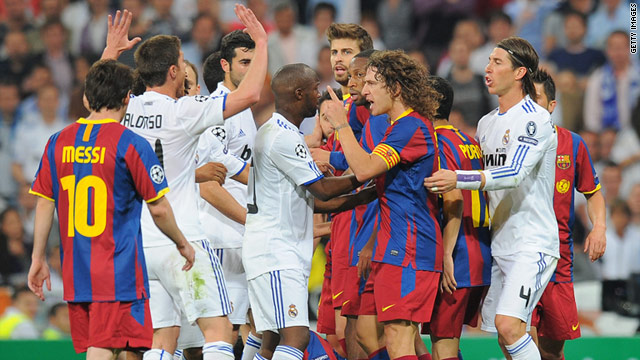 Barcelona and Real Madrid met five times last season with tempers flaring on several occasions.