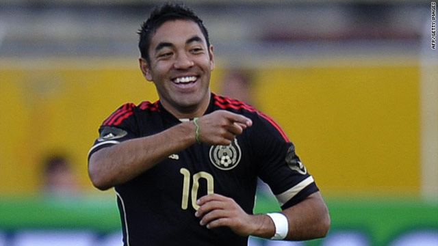 Marco Fabian, one of the involved players, celebrates after scoring for Mexico against Ecuador on Saturday.