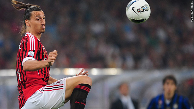 Zlatan Ibrahimovic scored in Milan's 2-1 win over Inter in the Italian Super Cup played in Beijing.
