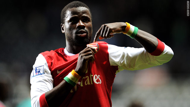 Ivory Coast international Emmanuel Eboue joined Arsenal from Beveren in 2005.