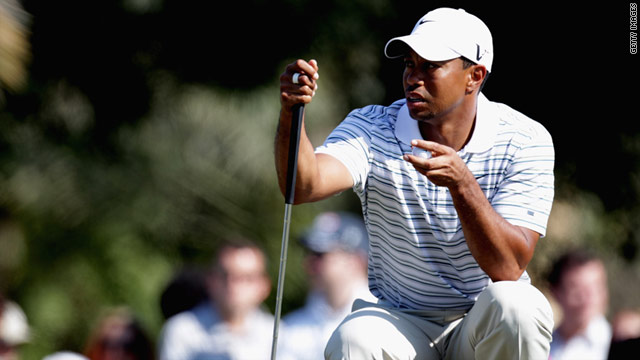 Tiger Woods is in a tie for fourth place at the Dubai Desert Classic after a third round 72.