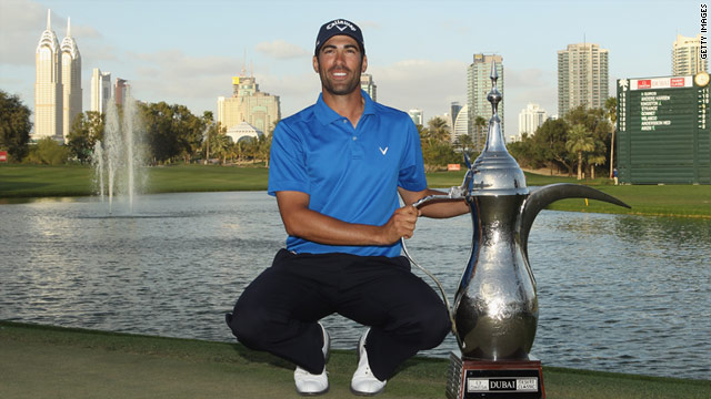 Alvaro Quiros played superbly on the final day to land the trophy at the Dubai Desert Classic.