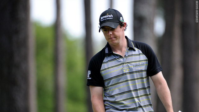 Rory McIlory threw away a four-stroke Masters lead after capitulating to a final round 80 at Augusta.