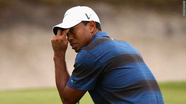 Tiger Woods has slipped down golf's world rankings due to prolonged absences and loss of form.