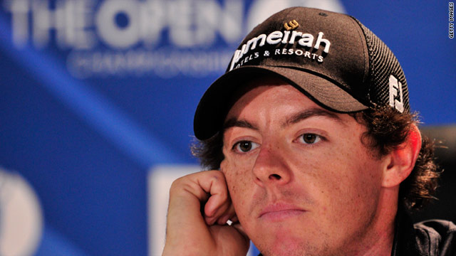 Rory McIlroy faces the media ahead of his bid for the British Open at Royal St George's.