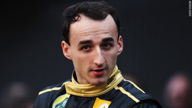 Former Sauber driver Robert Kubica has been with Renault since 2010, and has a contract until the end of next year.
