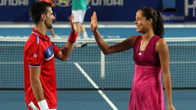 Serbian tennis stars Novak Djokovic and Ana Ivanovic beat Kazakhstan 3-0 in the opening match of the Hopman Cup.