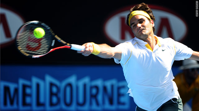 Roger Federer beat the mark he previously shared with his idol, Sweden's two-time Australian Open winner Stefan Edberg.