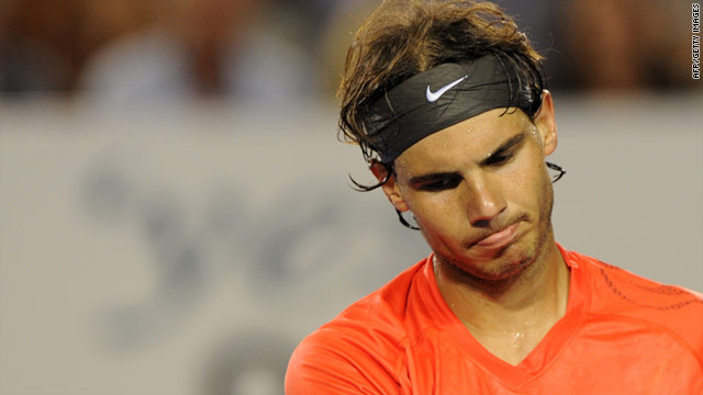 Rafael Nadal was bidding to become the first man since Rod Laver in 1969 to hold all four grand slam titles at once.
