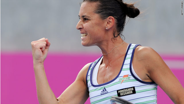 Italy's Flavia Penetta secured her country's first-ever Fed Cup singles victory over Australia with a win over Sam Stosur.