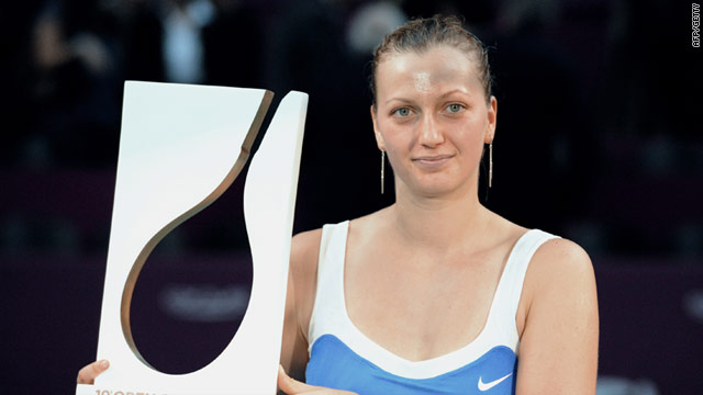 Petra Kvitova was claiming the biggest victory of her career by claiming the title in Paris.