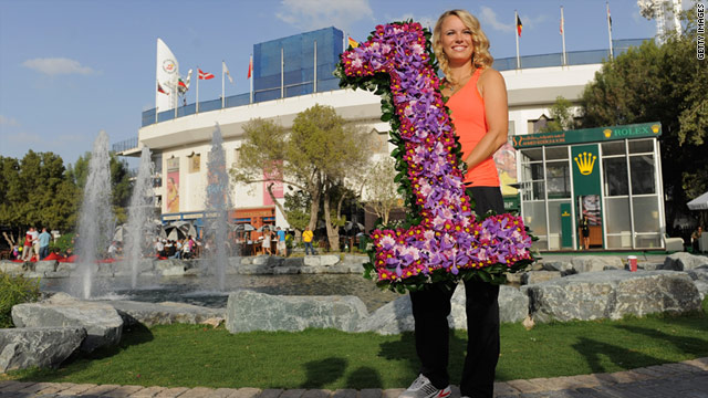 Caroline Wozniacki will officially replace Kim Clijsters as world number one on Monday.