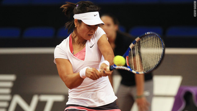 Li Na, from China, was beaten in the Australian Open final by Kim Clijsters in January.