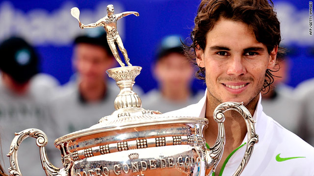 Rafa Nadal defeated David Ferrer in straight sets to claim the Barcelona Open title.