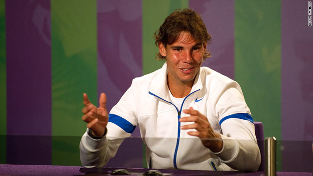 Rafael Nadal was in relaxed mood on the eve of his Wimbledon title defense.