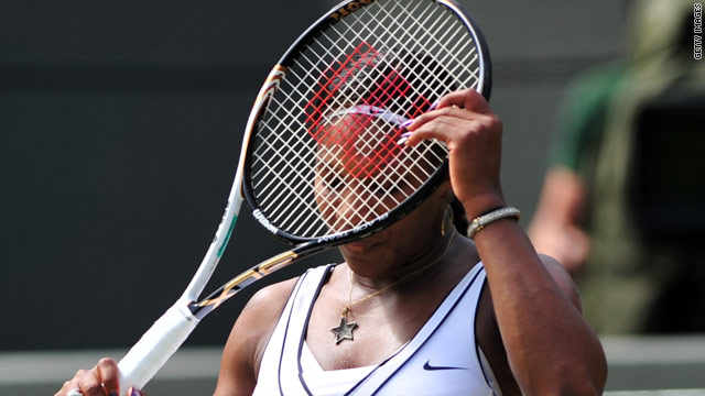 Former world number one Serena Williams crashed out to Marion Bartoli on Court No. 1 at Wimbledon.