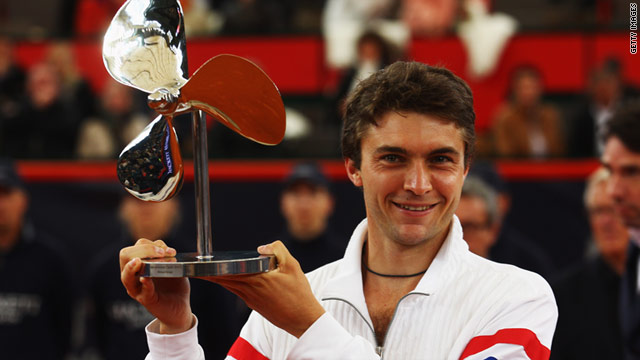 Gilles Simon's victory at the German Tennis Championships was the ninth of his career.