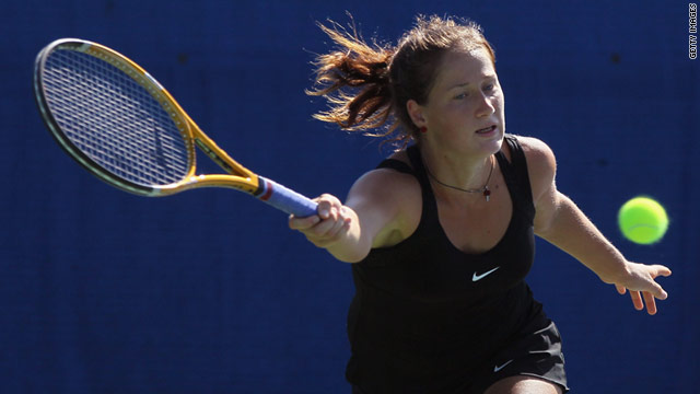 Bojana Jovanovski nearly missed her opening round match in the Mercury Insurance Open after going to the wrong place.