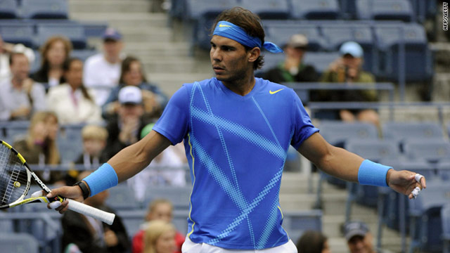 Rafael Nadal was unhappy with U.S. Open officials after being sent out to play on Wednesday when the courts were still damp.