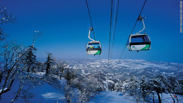 The Yongpyong Resort in South Korea offers a wide variety of winter sports, including skiing from mid-November to early April.