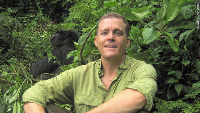 Author Julian Smith, here in Rwanda, traveled across Africa for two months as a way to deal with his fears of marriage.