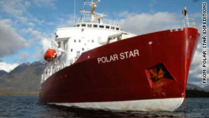 The MV Polar Star had 80 passengers and 35 crew on board when it struck an uncharted rock.