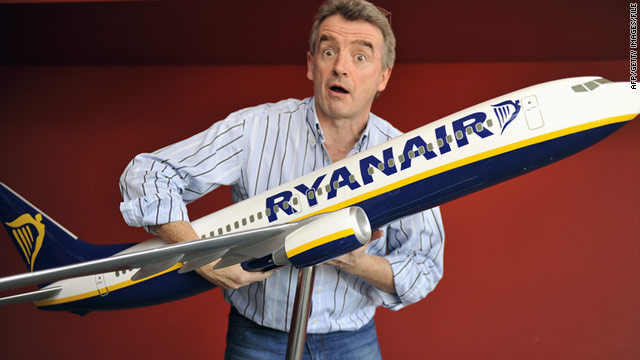 Ryanair CEO Michael O'Leary mugs for the camera in this file photo.