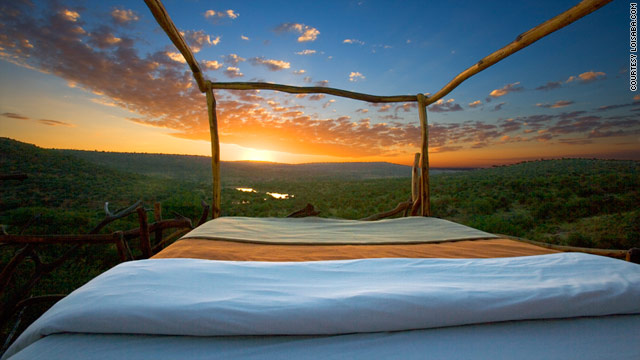 "In the Loisaba Wilderness, outdoor ""star beds"" expose you to the Kenyan elements."
