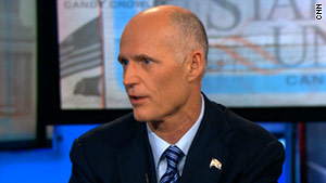 Florida Gov. Rick Scott has been opposed to the proposed high-speed rail line between Tampa and Orlando.