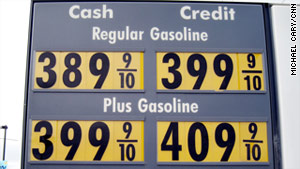 The national average for a price of self-serve unleaded gasoline at $3.51, says the Lundberg Survey.