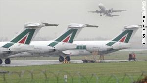 Alitalia has rerouted Tokyo flights to Osaka, Japan.
