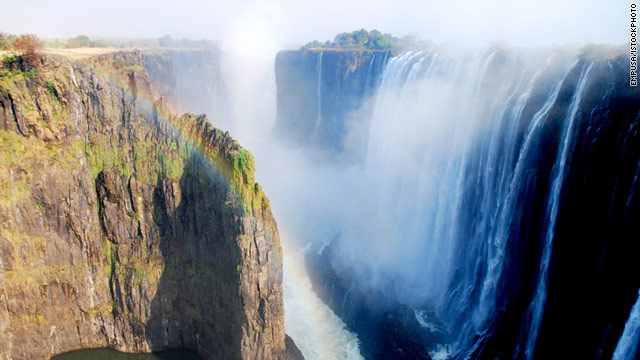More than twice as high as Niagara Falls, Victoria Falls straddles the border between Zimbabwe and Zambia.