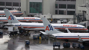 Radiation attributed to medical supplies was detected on an American Airlines plane Wednesday.