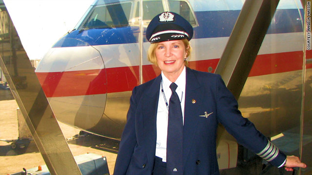 Angela Masson was a pilot for American Airlines for 31 years. Just a small fraction of airline pilots are women.