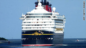 An unidentified worker on board the Disney Wonder failed to appear for a Tuesday shift.