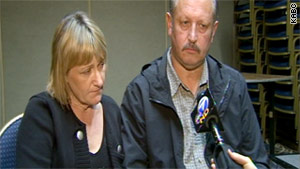 Ann and Michael Coriam, of England, were in Los Angeles to meet with investigators about their daughter's disappearance.