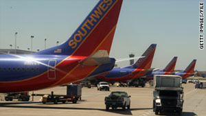 A Southwest Airlines crew was suspended after flying too close to another aircraft.