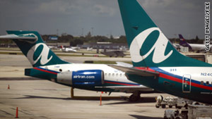 AirTran ranked No. 1 among 16 U.S. airlines in a report released Monday.