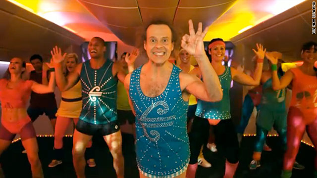 Air New Zealand's new Richard Simmons safety video is the latest attempt among airlines to grab passengers' attention.