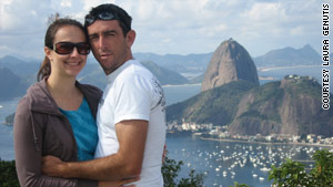 Laura Genutis and her fianc� spend time together in Rio de Janeiro in his native Brazil.