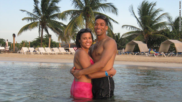 Chandra Thomas and Joe Whitfield, who are engaged but live in different cities, vacation together in Runaway Bay, Jamaica.