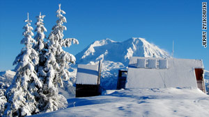 One of three overnight accomodations visitors must ski to in Washington's backcountry.
