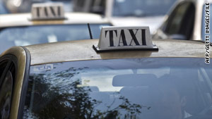 "Be careful of unmarked cabs or cabs that appear to be ""lying in wait."""